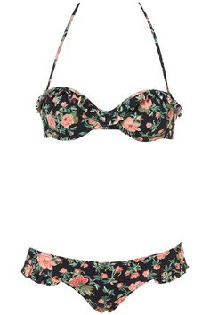 I pounced on this Vintage style floral bikini, the very morning it arrived in my local Topshop. It was love (and a flattering cut) at first sight!