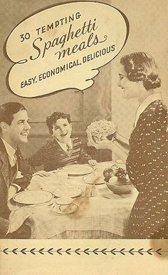 """Here's a SCARCE early advertising cookbook for Franco-American Spaghetti Milanaise """"with the extra good sauce."""""""