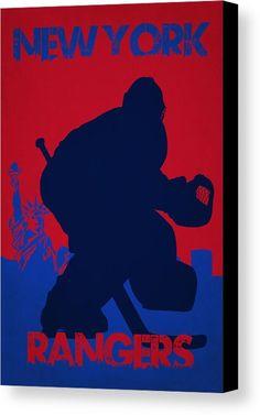 Rangers Canvas Print featuring the photograph New York Rangers by Joe Hamilton