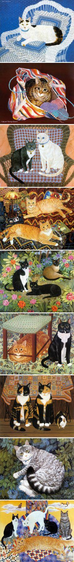 艺术家Mimi Vang Olsen笔下的猫咪