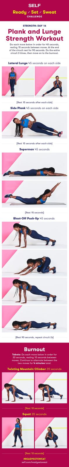 Plank and Lunge Strength Workout