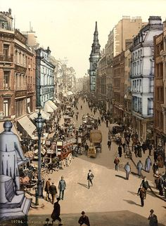 Cheapside, City of London, the historic and modern financial centre of London.