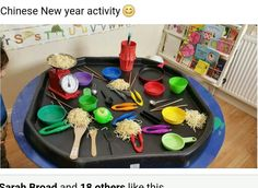 Our Chinese new year activities. This was a popular one!