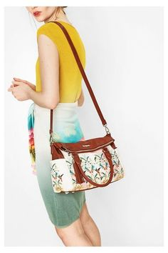 Desigual - Donna - Borsa bianca - Loverty Topicalicious - Loverty Tropicalicious - Size U