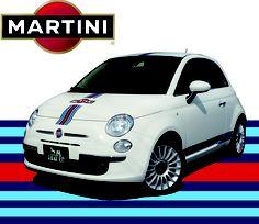 Fiat 500 MARTINI. Love this car