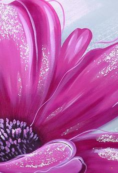 Pretty pink flower painting idea.