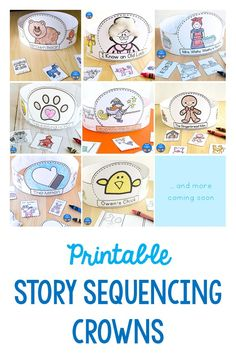 Fun story sequencing and story retelling activity for preschool and kindergarten. Children can wear these printable hats home to retell the story! Story Retell, Story Sequencing, The Napping House, Retelling Activities, Halloween Books, Book Suggestions, Kindergarten Reading, Literacy Centers, Read Aloud