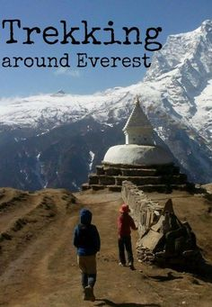 Trekking around Everest. Family travel in the Himalayas. What is it like to trek the Everest region, on the Everest Base Camp trail, with two kids?  Stunning, breathtaking, incredible, but hard.