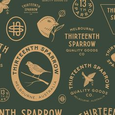 WEBSTA Branding for Thirteenth Sparrow out of Australia. I really enjoyed working on this project. Luckily we have more in the pipeline together. Photography Packaging, Logos Photography, Vintage Typography, Typography Logo, Lettering, Vintage Logos, Graphic Design Typography, Branding Design, Corporate Branding