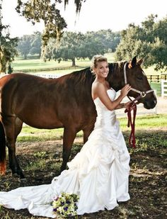 love this. want one after the wedding with my horse