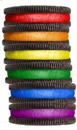 Rainbow Oreos what could be better