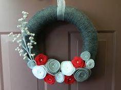 yarn wrapped christmas wreath - Google Search