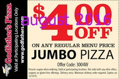 Free Printable Coupons: Godfathers Pizza Coupons