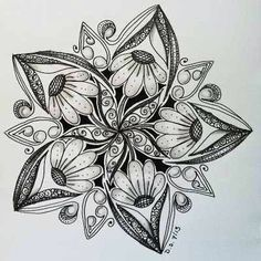 zentangles flowers - Vyhledávání Google