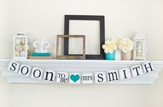 Soon To Be Mrs, Bridal Shower Decorations, Bridal Shower Banner, Soon To Be Mrs Banner, Soon To Be Banner, Bridal Shower