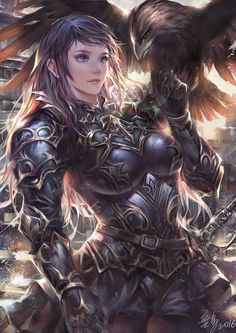 Welcome to the world of fantasy. (I will source the pictures if I know who the artist is.) I do NOT own any of those pictures. Fantasy Warrior, Fantasy Girl, High Fantasy, Fantasy Women, Anime Warrior, Warrior Girl, Anime Kunst, Anime Art, Fantasy Character Design