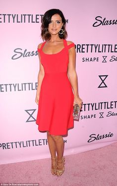1a36c5ccba5 Radiant in red  Lucy Mecklenburgh managed to squeeze in a party before  Coachella at the