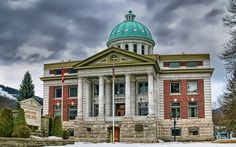 Courthouse in Revelstoke BC Courthouse 6 Picture Panorama Revelstoke Bc, All About Canada, Home Again, Old Pictures, Taj Mahal, Island, Explore, Mansions, Architecture