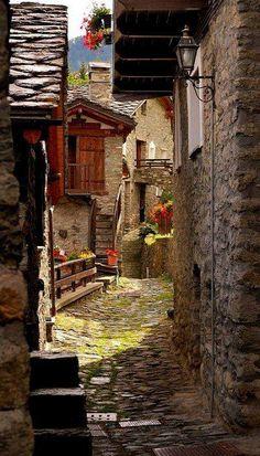 Ancient Street - Torgnon Valle d'Aosta Italy