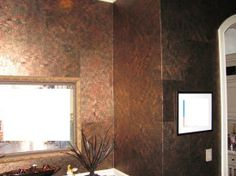 faux finish #wallpaper using art paper squares so seams give more dimension to the walls
