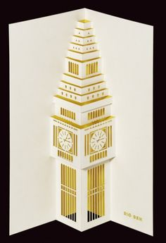 Big Ben pop-up card by Paper Tango Limited