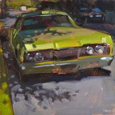 "Daily Paintworks - ""Shady Green"" by Carol Marine"