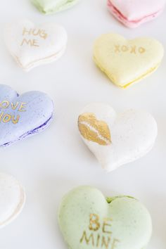 DIY Conversation Heart Macarons (and video tutorial!)