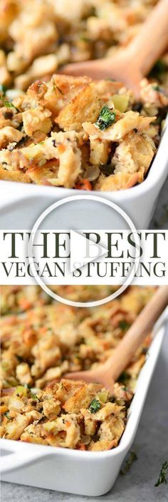 The Best Vegan Stuffing - The BEST Vegan Stuffing! Made with homemade tempeh sausage, sauteed vegetables and sourdough bread. - The Best Vegan Stuffing - The BEST Vegan Stuffing! Made with homemade tempeh sausage, sauteed vegetables and sourdough bread. Whole Foods, Whole Food Recipes, Cooking Recipes, Healthy Holiday Recipes, Vegitarian Thanksgiving Recipes, Vegetarian Recipes For Thanksgiving, Fall Recipes, Dinner Recipes, Vegan Foods