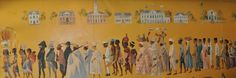 Muurschildering Hotel Torarica in Suriname, door Noni Lichtveld.