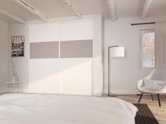 Chambre : porte de placard qui s'intègre parfaitement dans le style (modèle Quatro) Decoration, Parfait, Divider, Room, Furniture, Home Decor, Style, Closet Solutions, Sliding Door