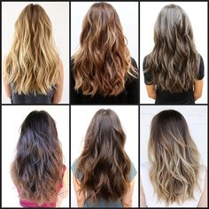 Balayage Love. Different versions. Some bolder and some subtle balayage highlighting techniques.
