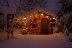 snowy cabins, as long as there is a for place & lots & lots of Red Wine<3