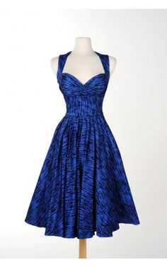 c4bd6979d21d Grace Dress in Flocked Blue - Prom Perfect - Collections