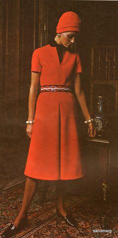 Vintage Vogue 2415 Paris Original Pierre Balmain Fitted A-Line Dress Sewing Pattern