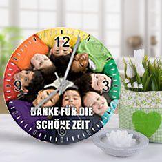 Uhr mit Klassenfoto