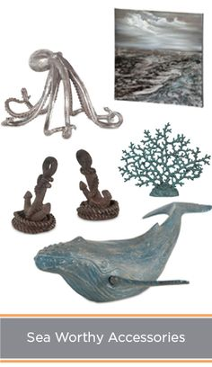 Sea worthy home decor & accessories to bring the beach to you.
