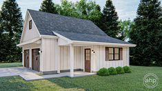 Modern Farmhouse Garage Plan | Adkins