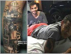 Álvaro Negredo y su segundo trabajo.Tatuaje a Neymar una favela para nunca olvidar de dónde viene.