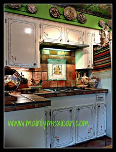 These Cupboards Are Interesting. I Am Not Having Cupboards, Bajajaja, But  They Are. Mexican Style HomesKitchen ...