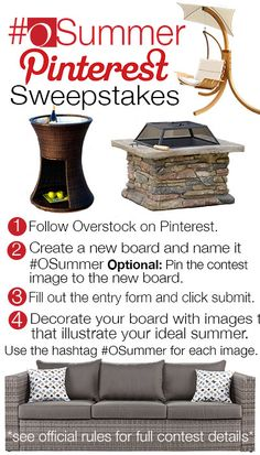 Pin for your chance to win in the OSummer Pinterest Sweepstakes! #OSummer