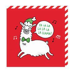 Fa La La La Llama Greeting Card  by: Ohh Deer