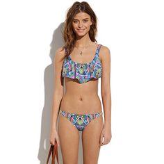 Mara Hoffman® Half-Top Printed Bikini