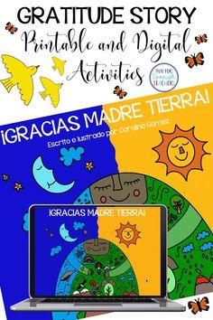 Spanish Worksheets, Spanish Activities, Carolina Gomez, Seesaw, Spanish Class, Earth Day, Simple Way, Gratitude, Students