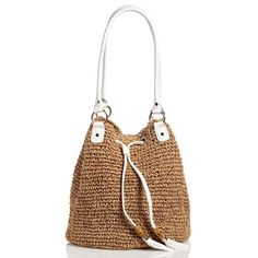 Let this casual bag take you away in style. With a soft straw shell and trendy tasseled drawstring, this bag is as comfortable on the town as it is on a weekend getaway.