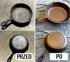Cleaning the cast-iron frying pans Household Cleaning Tips, House Cleaning Tips, Spring Cleaning, Cleaning Hacks, How To Clean Silverware, Cast Iron Frying Pan, Frying Pans, Oven Cleaner, Iron Board
