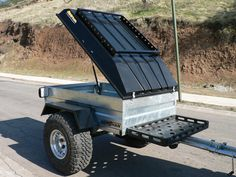 trendy camping trailer off road Work Trailer, Off Road Camper Trailer, Small Trailer, Trailer Plans, Truck Camper, Camper Trailers, Trailer Build, Adventure Trailers, Cargo Trailers
