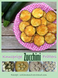 Knusprige Zucchini-Fritters low carb -  Diese Zucchini Fritters sind mir richtig…