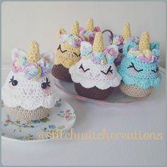 Lavender Unicorn Cupcake Crochet Pattern Amigurumi PDF