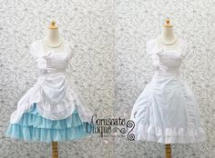 Classic Ruffles Dress Victorian Adjustable on by CoruscateUnique