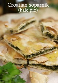 Croatian soparnik – a rustic kale pie made with the EASIEST homemade dough ever!… Croatian soparnik – a rustic kale pie made with the EASIEST homemade dough ever! Kale Recipes, Vegetarian Recipes, Cooking Recipes, Healthy Recipes, Kale Pie Recipe, Bread Recipes, Cooking Tips, Croation Recipes, Croatian Cuisine